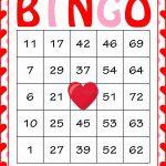 Valentine's Bingo Cards   Printable Download   Prefilled