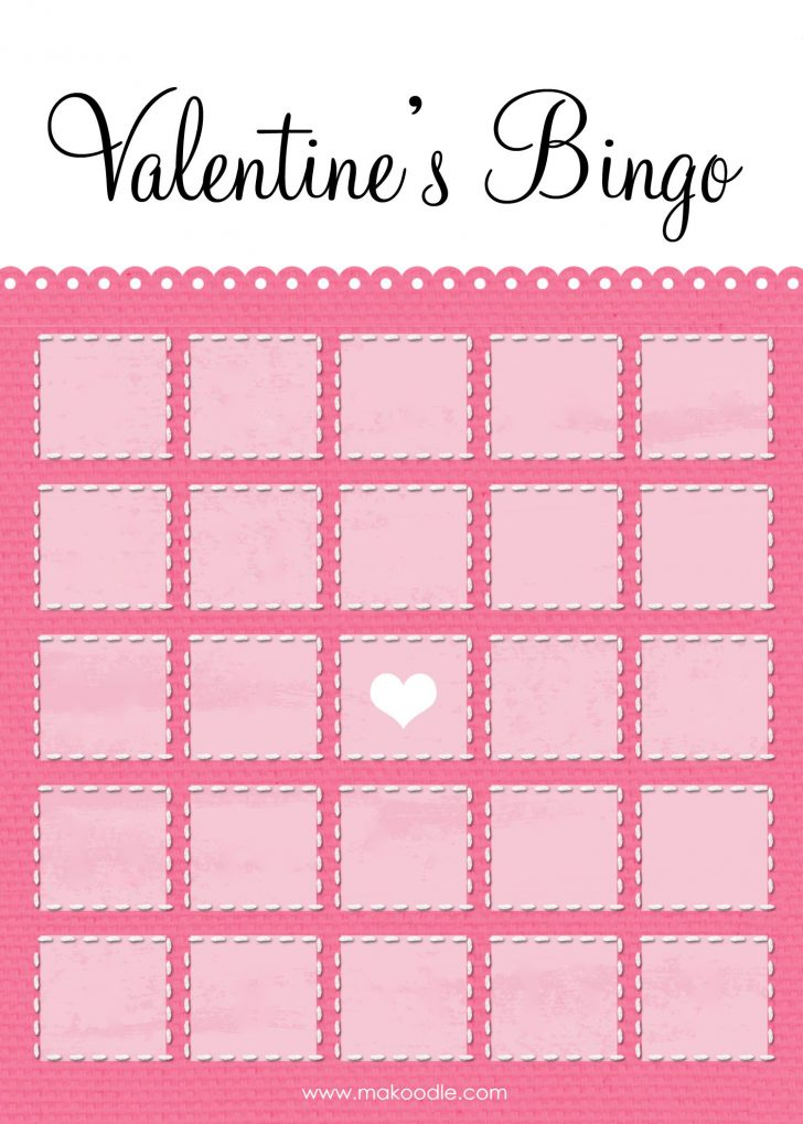 Free Blank Printable Valentine Bingo Cards For Large Groups