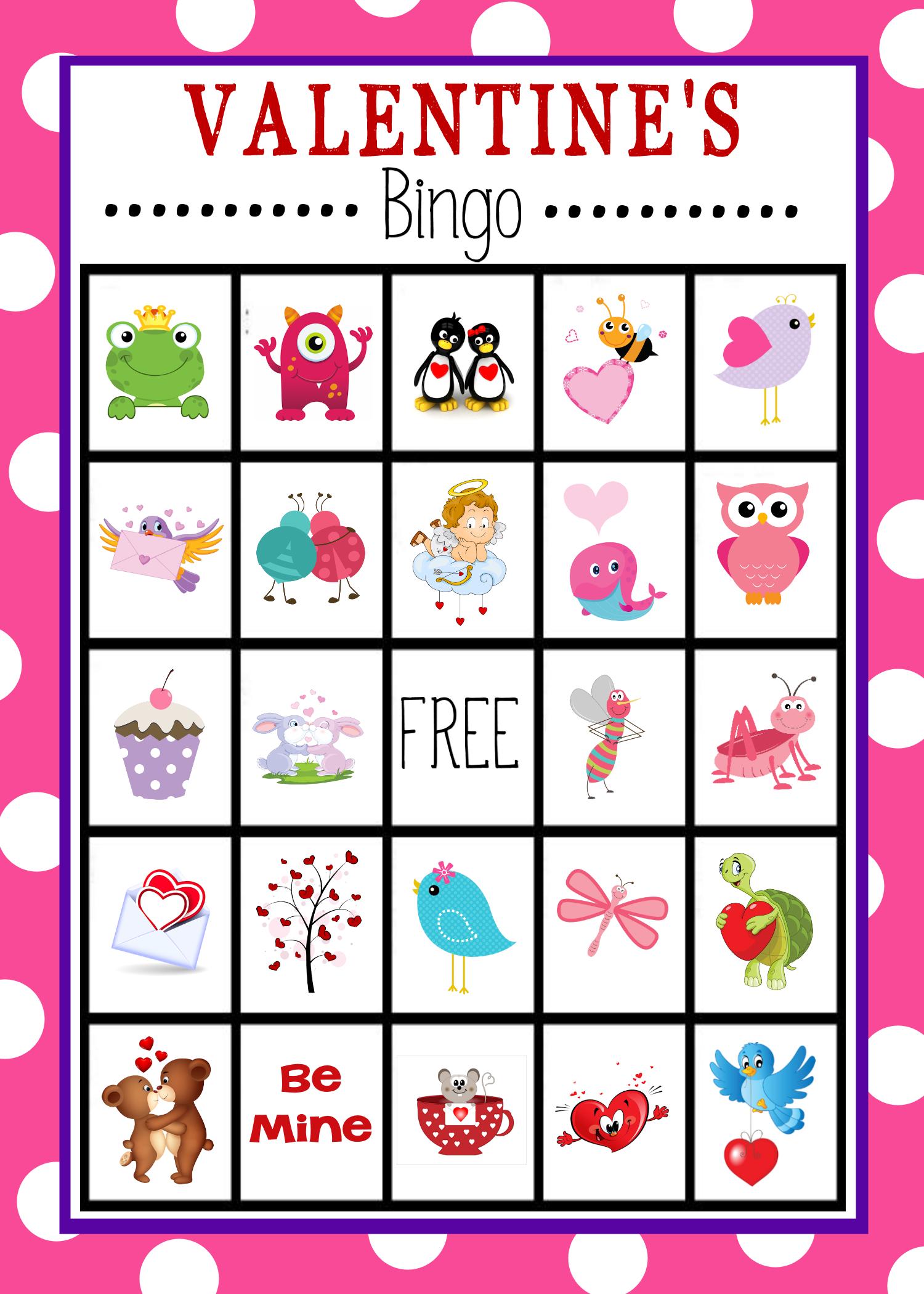 Valentine's Bingo Game To Print & Play   Valentine Bingo