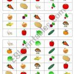 Vegetables Bingo Cards   Esl Worksheetlyubka87