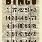 Vintage Bingo Card Dictionary Art Print   Kaarten, Papier En