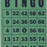 Vintage Bingo Card   Green And Blackassemblager On Etsy