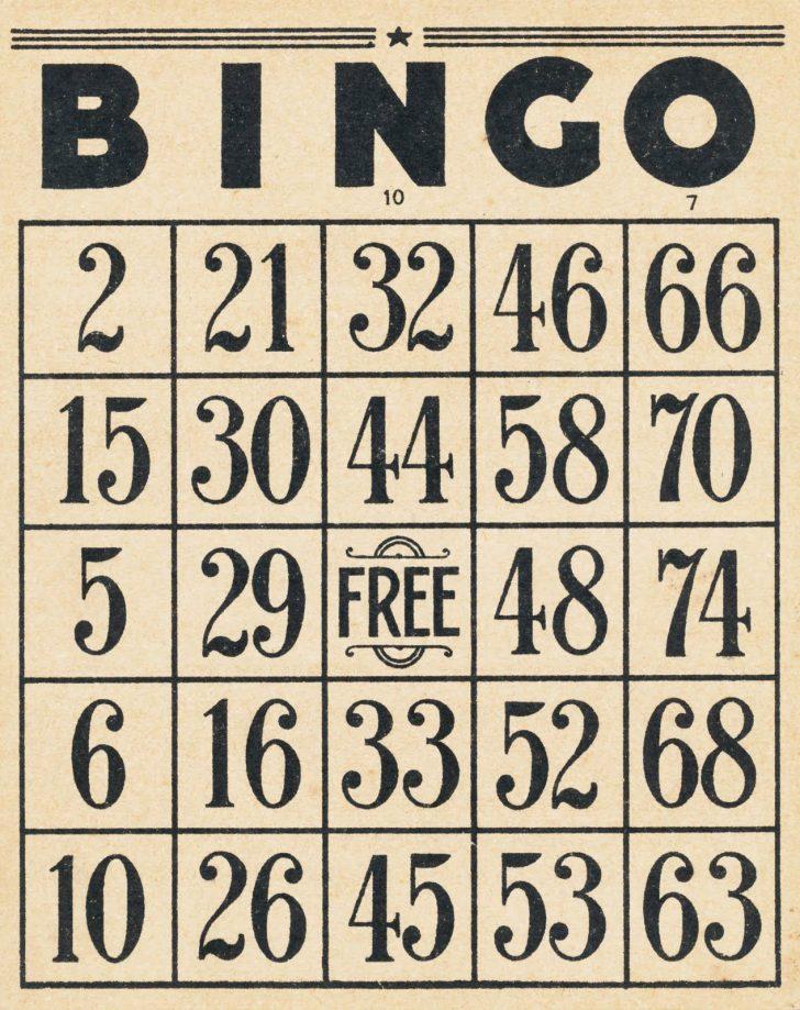 Printable Vintage Bingo Cards