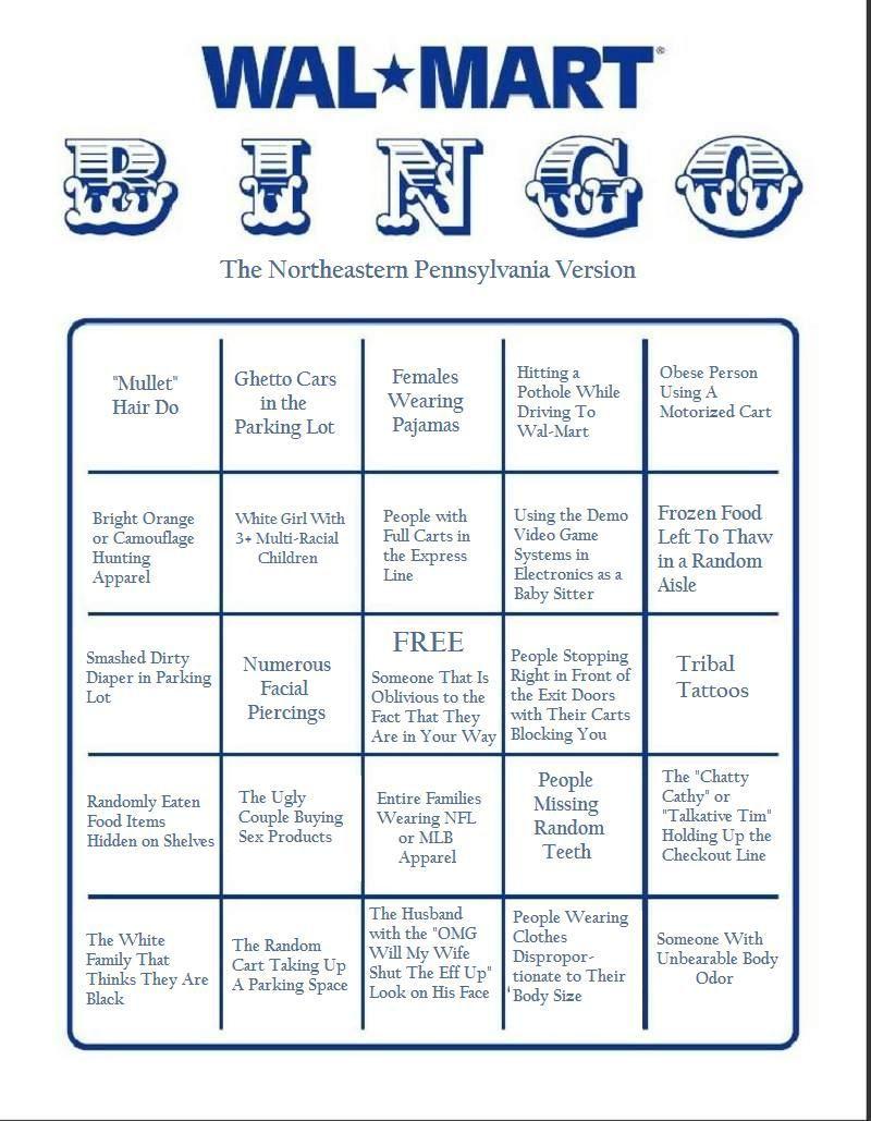 Walmart Bingo. | Haha Funny, Just For Laughs, Bingo