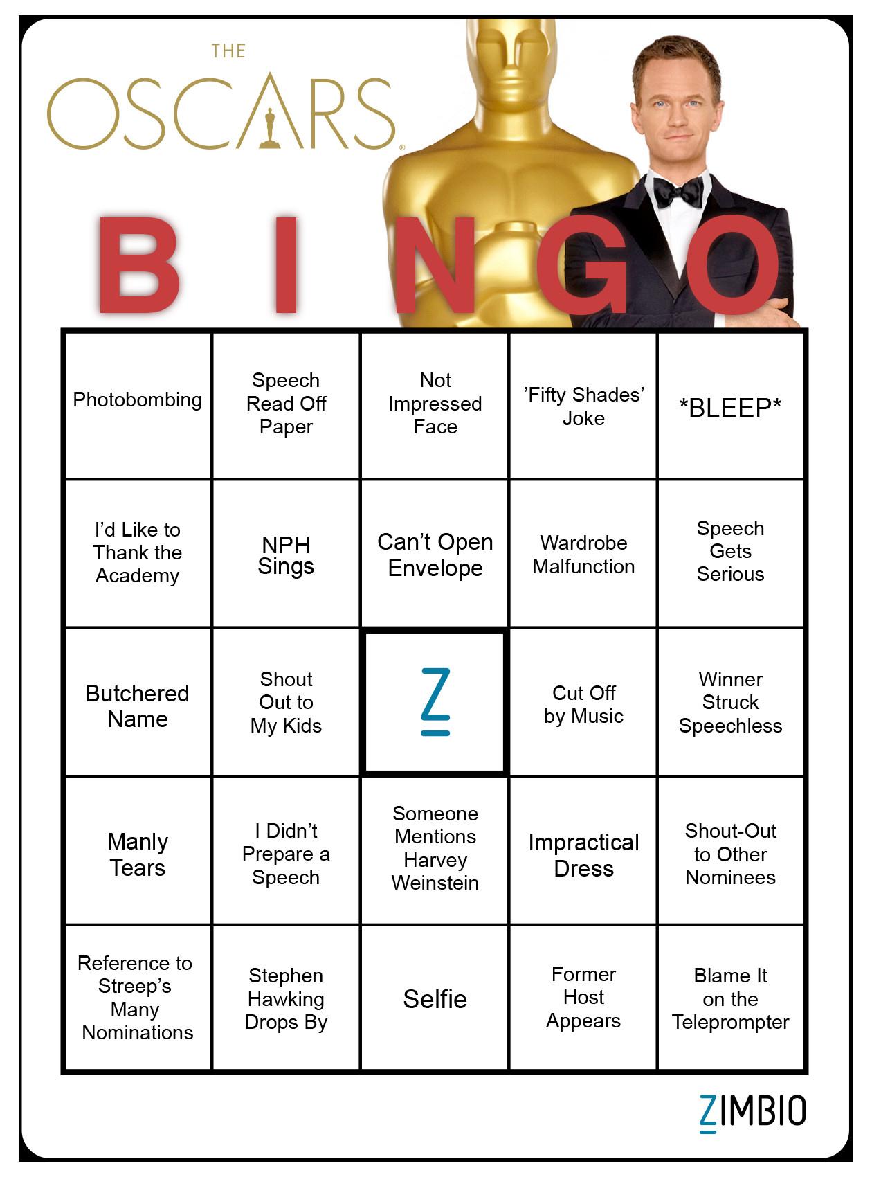 Want To Play Oscar Bingo? We've Got The Bingo Cards