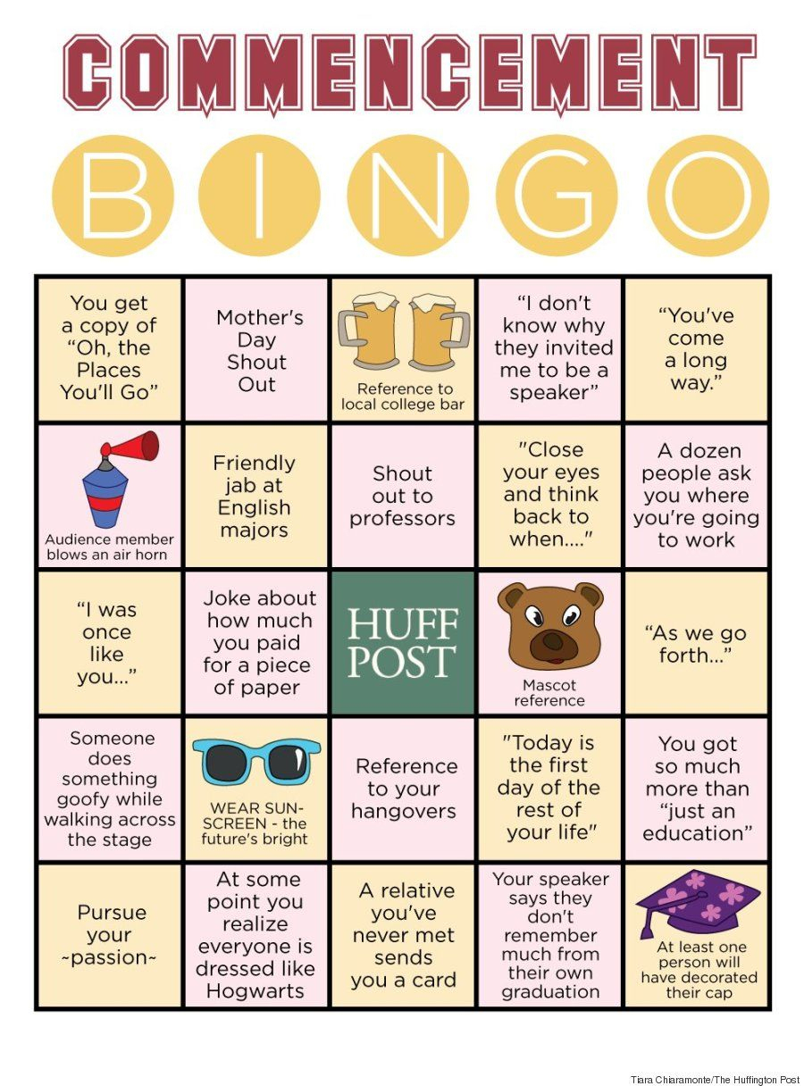 We Made A Commencement Bingo Card To Track All The Clichés
