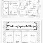 Wedding Speech Bingo #weddingspeeches | Free Printable Bingo