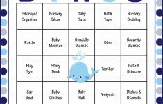Whale Baby Bingo Cards – Printable Download – Prefilled