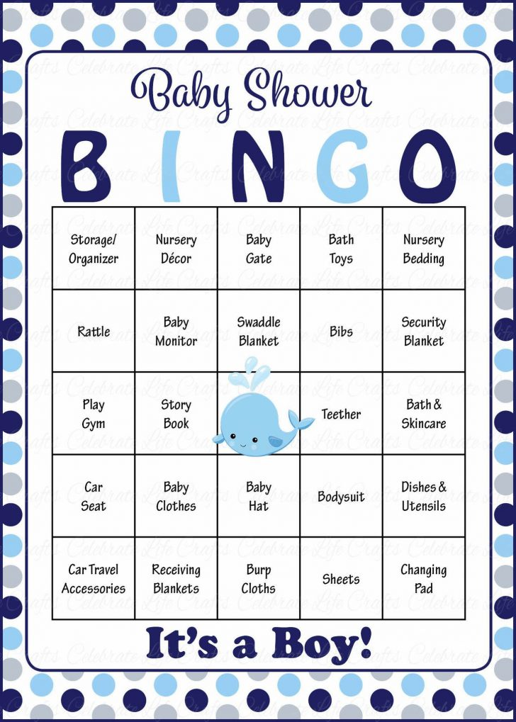 Free Printable Baby Boy Shower Bingo Cards