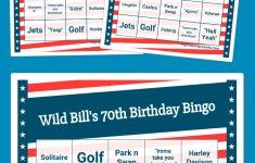 Wild Bill's 70Th Birthday Bingo | Bingo Card Generator, Free
