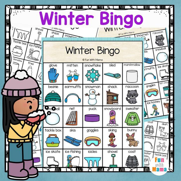 Free Printable Winter Themed Bingo Cards