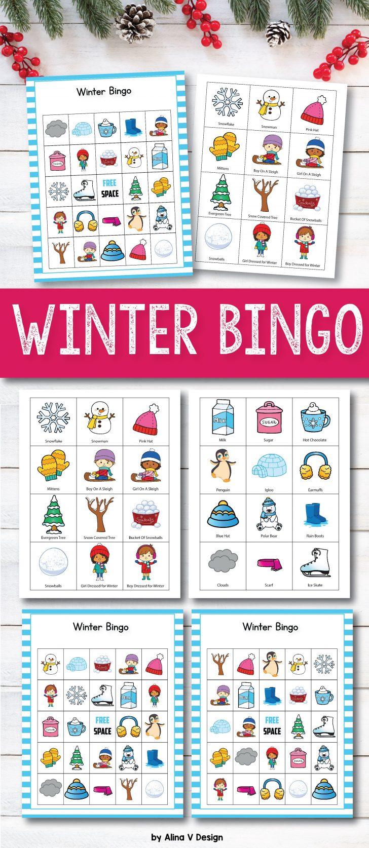 Printable Winter Themed Bingo Cards